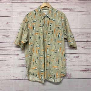 Columbia Men's Short Sleeve Fish Shirt SZ XXL